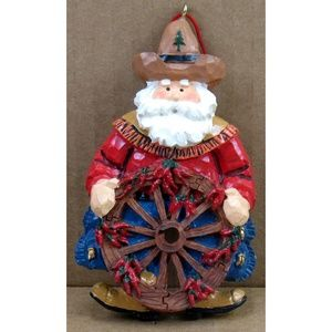Unbranded Holiday - Cowboy Wagon Wheel - Christmas Ornaments - 2 Pcs